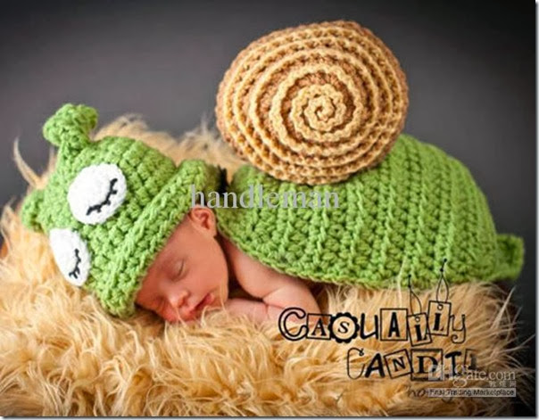 baby photography props manual baby knitting wool cap snail modelling hat