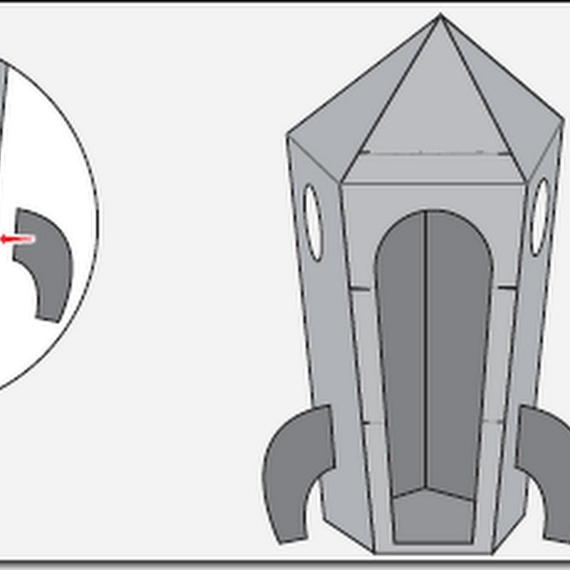 Hacer un cohete de cartón de 1,80 m. de largo