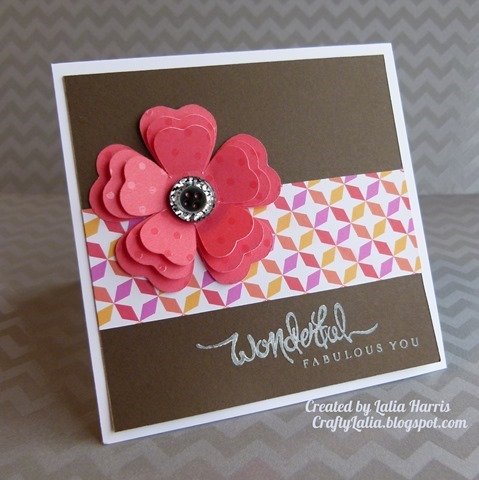 Dream Pop  Wonderful Fabulous You stamp CTMH