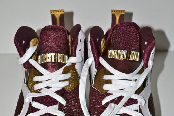 Detailed Look at Nike LeBron 9 8220Christ the King8221 Home PE
