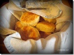 wrapped warm biscuits