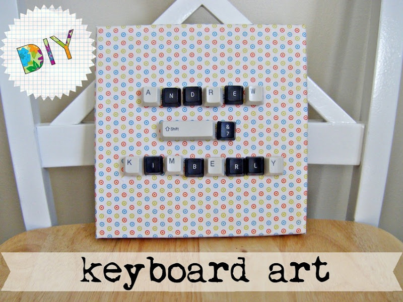 Keyboard Art | allonsykimberly.com
