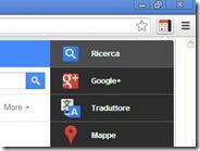 Accedere a tutti i servizi Google dalla barra di navigazione di Chrome e Firefox