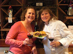 Winemaker Laura Zahtila (on the left) and Maureen Ludwig (aka Mo-the sandwich chef) on the right
