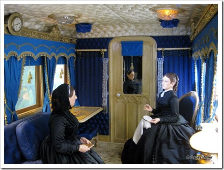 Queen Victoria's Royal carriage built by the London North Western Railway.