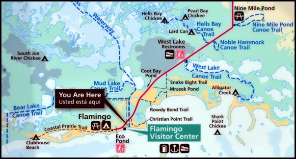 10 - Flamingo Area Trail Map