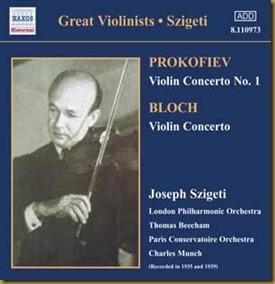 Prokofiev concierto violin 1 Szigeti Beecham