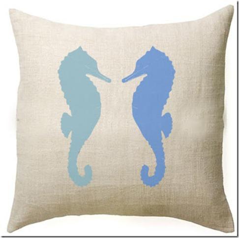 no 411 seahorse pillow