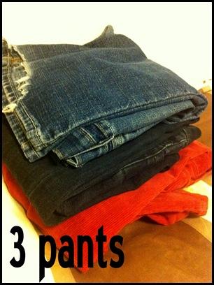 3 pants