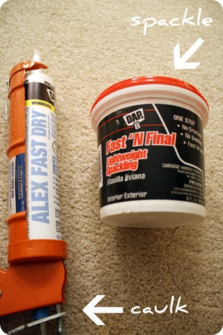 caulk and spackle