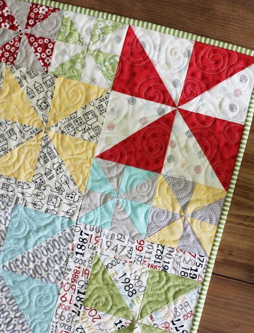 Swirly Quilting Table Runner