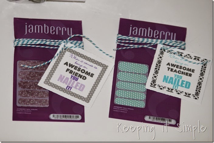 Jamberry nails gift with printable tags (3)