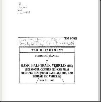 Technical Manual TM 9-707 Basic Half-Track Vehicles  IHC    War Department   Free Download   Streaming   Internet Archive