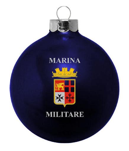 Marina Militare Custom Glass Ornament