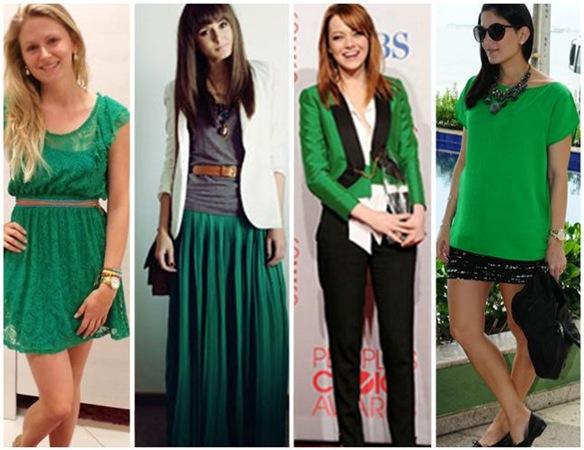verde esmeralda looks