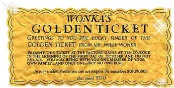 Wonka's golden ticket