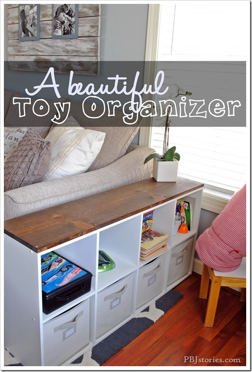 beautiful toy organizer on pbjstories