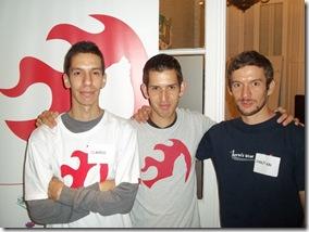 Andrés, Sebastián y Claudio Salvático