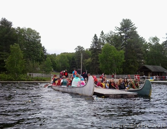 Ontario Pioneer Camp Girls Camp_War Canoes_OPC_#PioneerCamp_@DownshiftingPRO