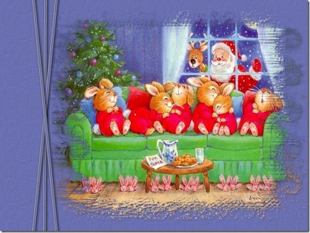 Navidad paisajes nevados gifs con brillos de navidad - Paisaje nevado navidad ...
