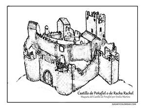 Castillo de Peñafiel o de Racha Rache blogcolorear 1
