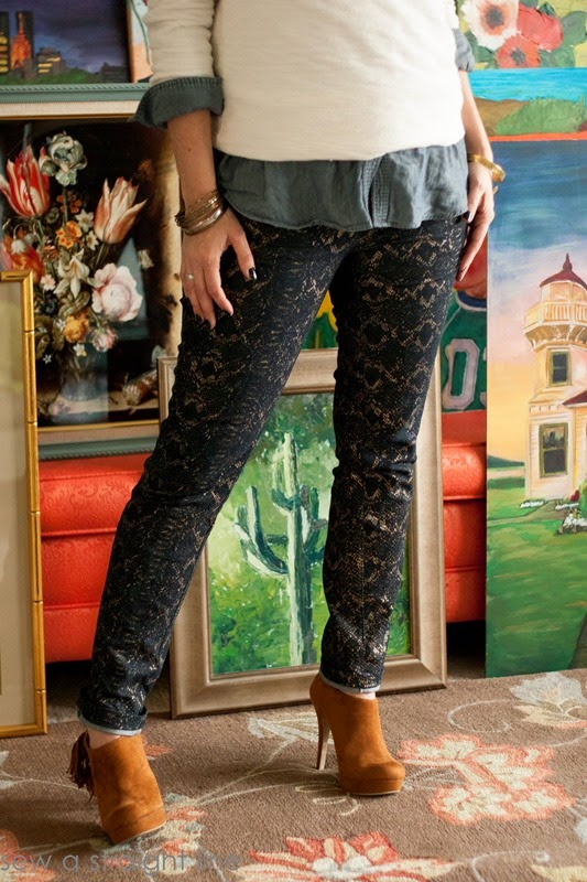 snake skin jeans sew a straight line-3