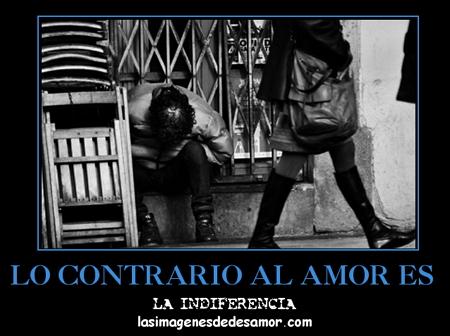 Thumbnail Lo contrario al amor es la indiferencia (cartel de desamor)