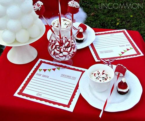 коледна декорация на маса