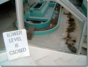 Lower Level Closed Sign