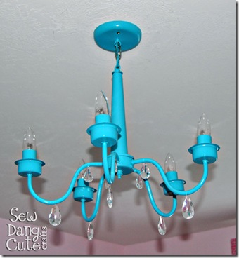Spray-painted-chandelier