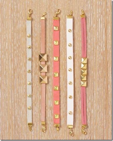 Martha Stewart studded bracelet diy