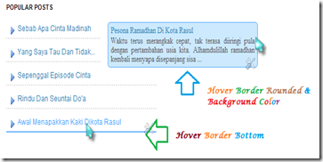 Popular Posts Dengan Efek Hover Border dan Background Color