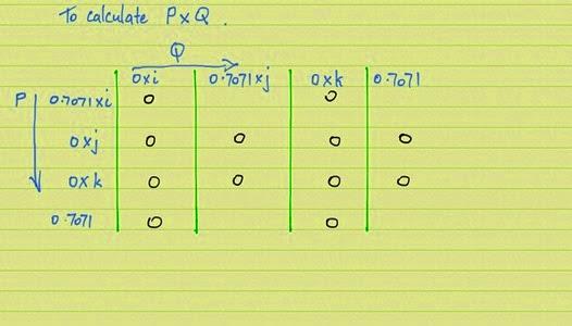 Quaternion multiplication mark zero