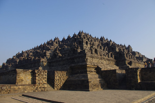 The multiple levels of Borobudor take pilgrims on a spiritual journey through the Buddha's life and teachings.