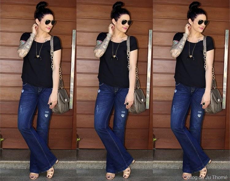 look básico jeans e camiseta1