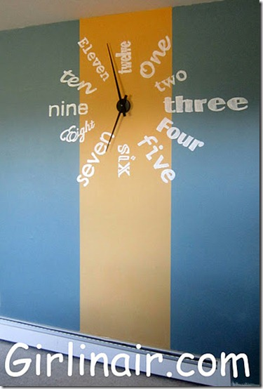 friday feature--funky wall clock from girl in air blog