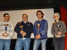 2014.11.16-007 Christian vainqueurB, Arnaud et Stéphane et Catherine 2ème B