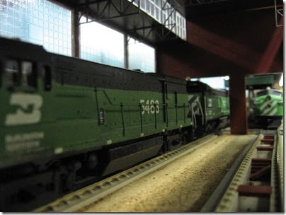 IMG_5443 Burlington Northern U30B #5483 on the LK&R HO-Scale Layout at the WGH Show in Portland, OR on February 17, 2007