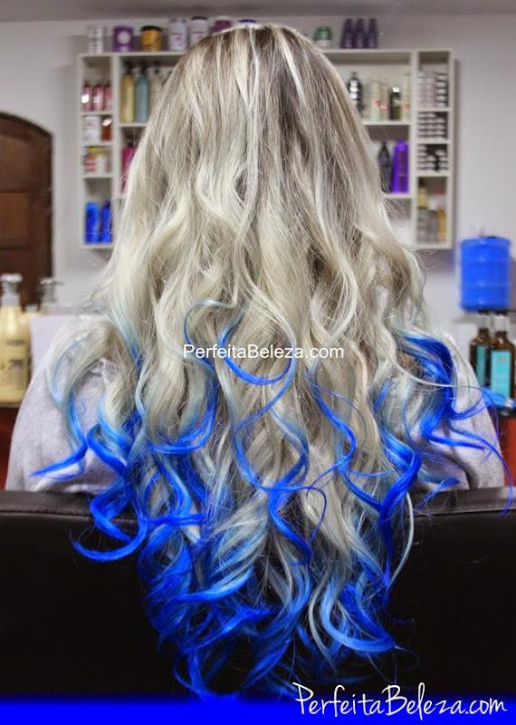 como pintar o cabelo de azul, keraton azul, cabelo colorido, hair blue