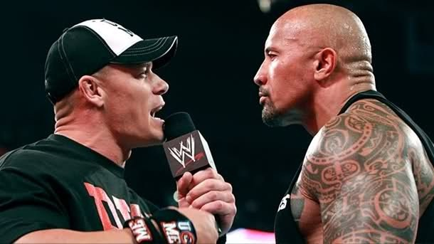John Cena y The Rock se enfrentan en Raw