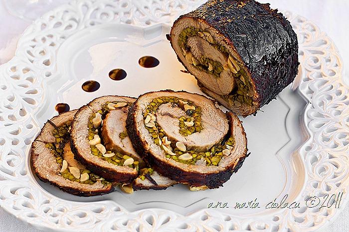 1Roast beef gatit in Marsala,umplut cu sparanghel,nuci de caju si parmezan