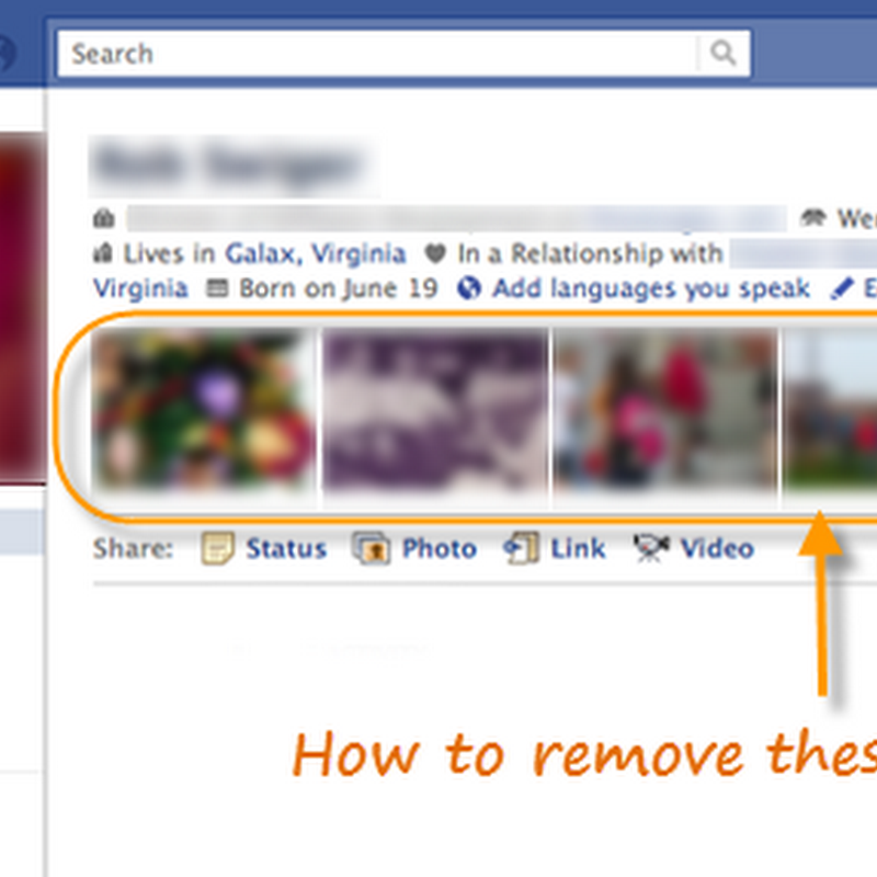 How to Hide The Top Row of Photos on Your Facebook Profile