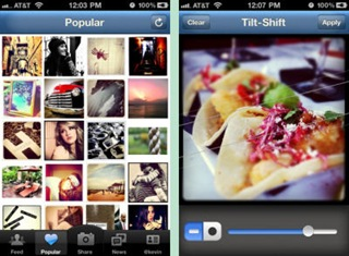 Free Instagram Photo Sharing App Interface on iPhone