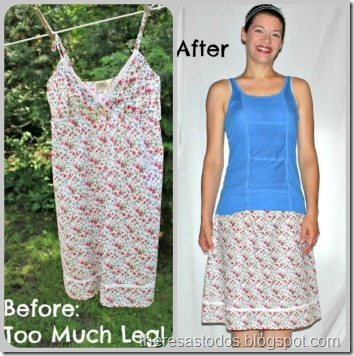 Refashion, Sundress to Skirt