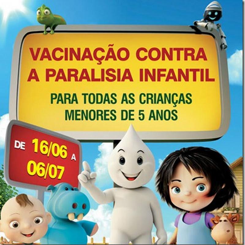 Vacinação contra a Poliomielite começa dia 16/06