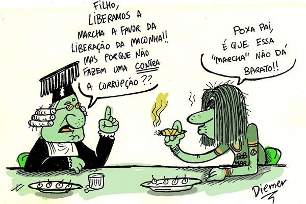 Charge Marcha Maconha
