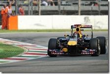 Vettel nelle qualifiche del gran premio d'Italia 2011