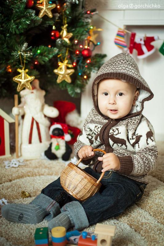 Детский новогодний фотопроект Рождественские мечты. 32. Никита 1 год (Ольга)-2