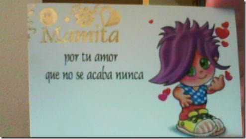 regalo de Bruno para su mama- dia de la madre- 16-10-2011