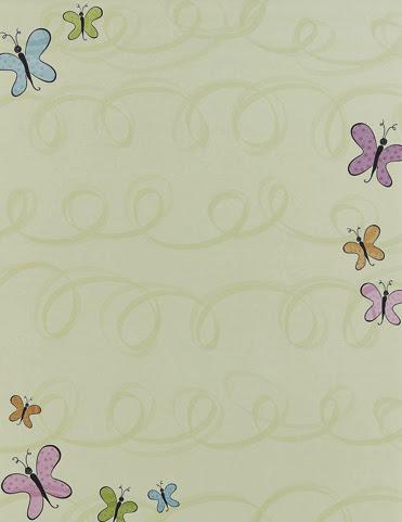 Nouveau butterflies spring paper stock